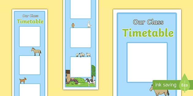 Farm Themed Vertical Visual Timetable Display - daily routine, morning routine, KS1, EYFS, SEN