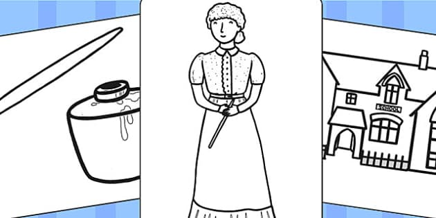 Victorian School Colouring Pages - victorian, school, colours