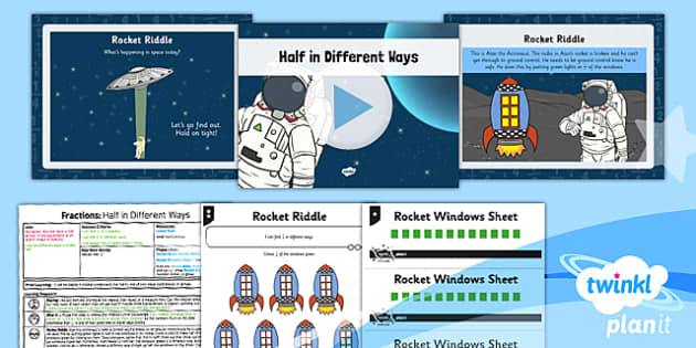 PlanIt Y1 Fractions Lesson Pack Halves (2) - planit, fractions, year 1, maths, lesson pack, halves, 2