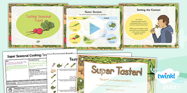 PlanIt - D&T UKS2 - Super Seasonal Cooking Lesson 3: Tasting Seasonal Food Lesson Pack