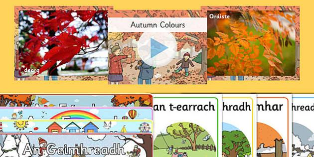 Irish Gaeilge Autumn An Fómhar Resource Pack-Irish