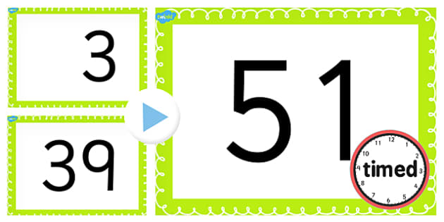 Counting On and Back in 3s up to 51 PowerPoint - counting, 3