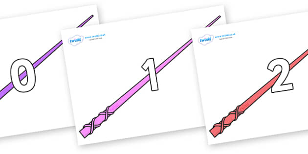 Numbers 0-100 on Wands - 0-100, foundation stage numeracy, Number recognition, Number flashcards, counting, number frieze, Display numbers, number posters