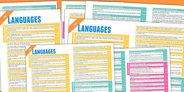 Scottish Curriculum For Excellence Overview Posters Language