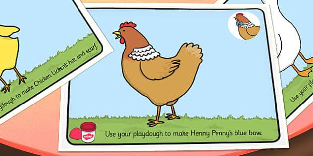Chicken Licken Playdough Mats - playdoh, stories, story books