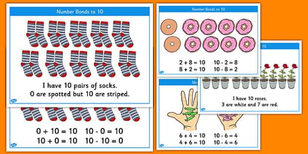 Number Bonds to 10 Stories - number bonds, 10, stories, number, bonds