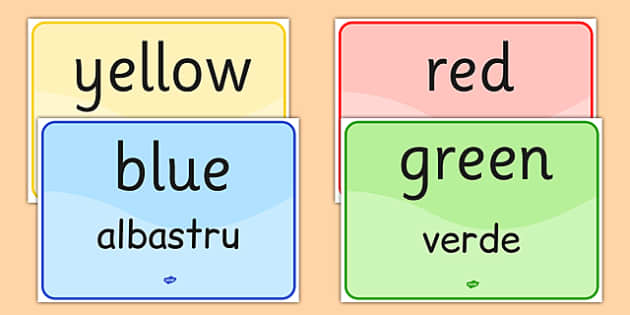 Colour Signs EAL Romanian Translation - romanian, EAL display, languages, colour