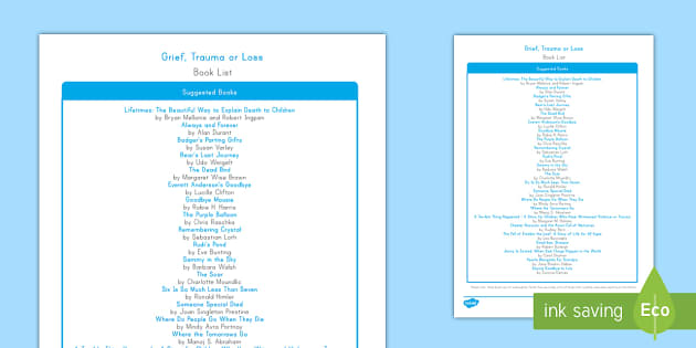 Grieving Through Tragedy Book List - Grieving Through Tragedy, feelings, emotions, loss, trauma, grief, sadness, booklist