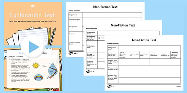 Explanation Text - Read, Record and Present Information UKS2 Lesson Pack - retrieve, record, present, comprehension, explanation, speaking