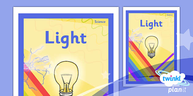 PlanIt - Science Year 6 - Light Unit Book Cover - planit, science, year 6, book cover, unit, book, cover, light