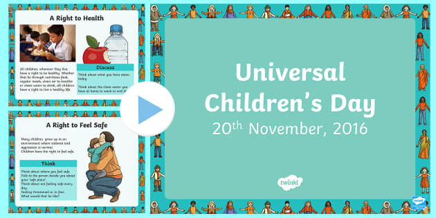 KS2 Universal Children's Day November 20th  PowerPoint