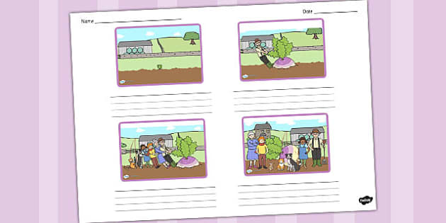 The Enormous Turnip Storyboard Template - storyboard, turnip