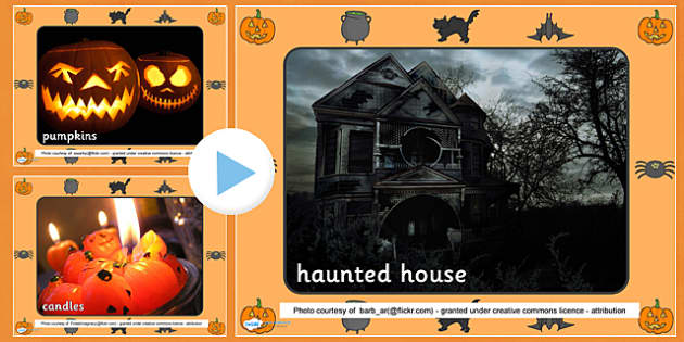 Halloween Display Photo PowerPoint - halloween, photo powerpoint, powerpoint, halloween photos, images, pictures, presentation, discussion starters, photos