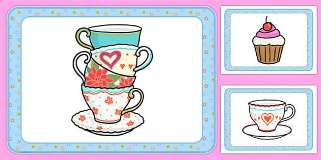 Tea Shop Role Play Place Mats - australia, tea shop, role-play, place mats