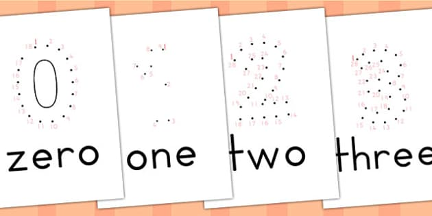 Dot to Dot Numbers 0-5 - numbers, number games, maths, numeracy