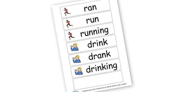 Tense Word Cards - KS2 Tenses, Grammar, English, Literacy, Punctuation, KS2 English