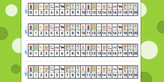 Number Track 0-20 to Support Teaching on Biscuit Bear - Biscuit, Bear, Number, Track