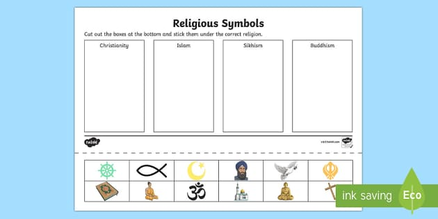Religious Symbols and Beliefs Symbol Drawing and Sorting Activity