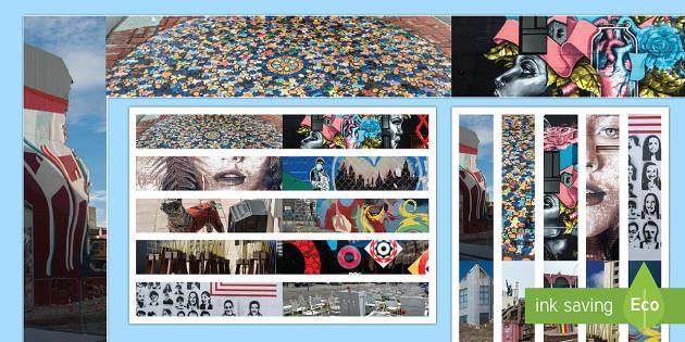 Street Art Display Borders - New Zealand Natural Disasters, earthquake, Christchurch, Street Art