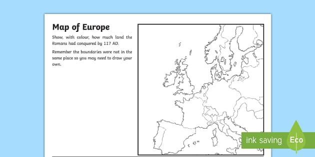 Spread of the Roman Empire Map Worksheet - romans, roman empire