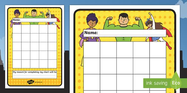 Superhero Sticker Stamp Reward Chart - Superhero Sticker Stamp Reward Chart, Superheroes, Superhero, superheroes, charts, chart, award, well done, reward, medal, rewards, school, general, achievement, progress, hero, batman, superman, spiderman, spec