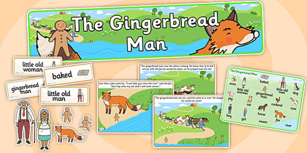 The Gingerbread Man Story Sack - story sack, story books, story book sack, stories, story telling, childrens story books, traditional tales