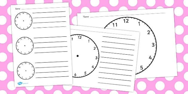 Blank Clock Templates - australia, clock, blank, template, time