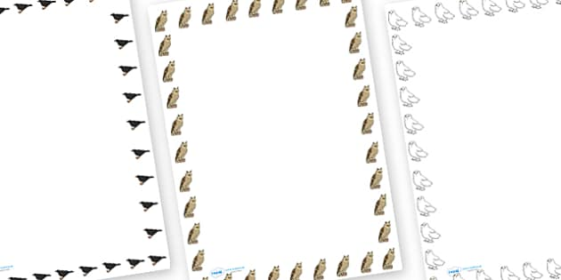 British Birds Page Border - british birds, page borders, page, borders