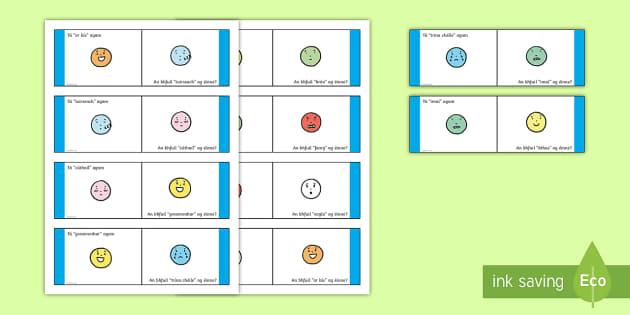 Mothúcháin Loop Cards - Requests - ROI, Gaeilge, Irish, mothúcháin, mé féin, myself, feelings, emotions, loop games,Iris