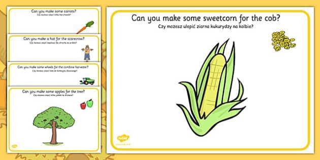Harvest Playdough Mats Polish Translation - polish, harvest, playdough mats, mats