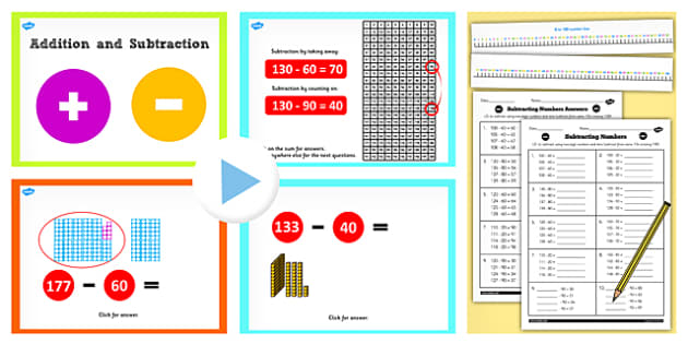 Year 2 Subtracting 2 Digit Numbers and Tens With Same 10 Crossing