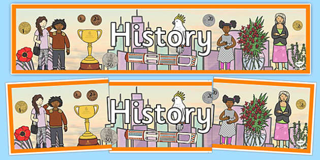History Display Banner - history, history display, banner
