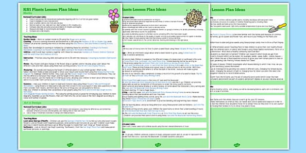 KS1 Plants Lesson Ideas - ks1, plants, lesson ideas, lesson, idea, k1