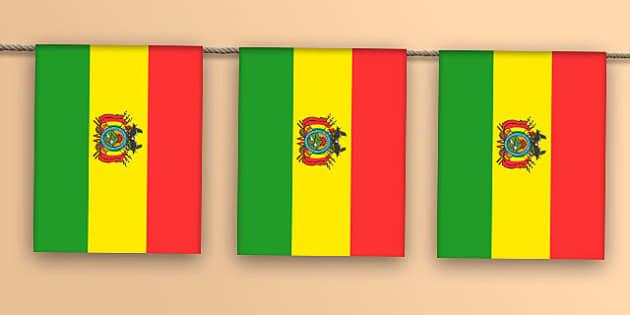 Bolivia Flag Bunting - bolivia flag, flag, bolivia, display bunting, display, bunting