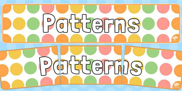 Patterns Display Banner - patterns, display banner, display, banner