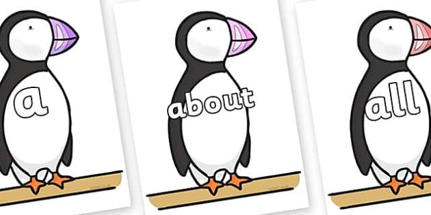 100 High Frequency Words on Puffin to Support Teaching on The Great Pet Sale - High frequency words, hfw, DfES Letters and Sounds, Letters and Sounds, display words