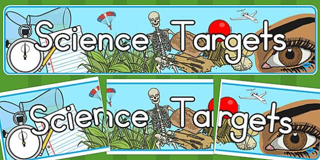 Science Targets Display Banner - australia, science, targets, display banner