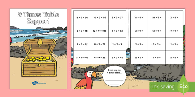 9 Times Table Zapper