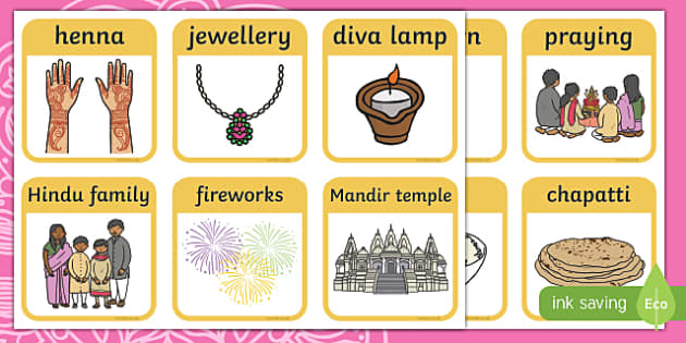 Diwali Matching Snap Cards Activity