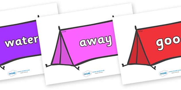 Next 200 Common Words on Tents - Next 200 Common Words on  - DfES Letters and Sounds, Letters and Sounds, Letters and sounds words, Common words, 200 common words