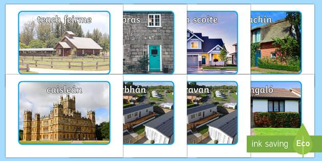 Houses and Homes Display Photos Gaeilge - Gaeilge - Sa Bhaile, Irish, Houses, Homes,Irish