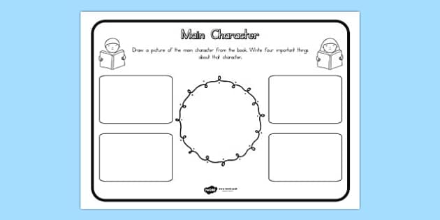 Supporting Character Comprehension Worksheet - worksheets, support