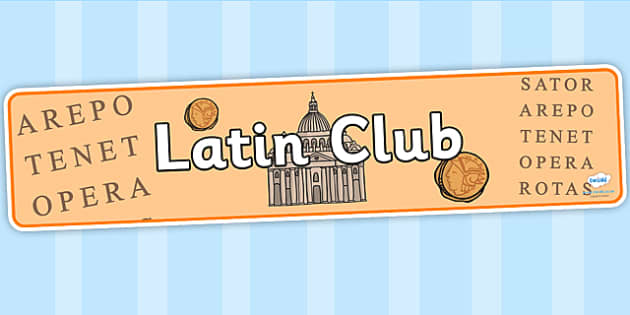 Latin Club Display Banner - latin club, display banner, banner for display, display, banner, header, header for display, header display, display header