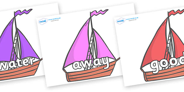 Next 200 Common Words on Sailing Boats to Support Teaching on Where the Wild Things Are - Next 200 Common Words on  - DfES Letters and Sounds, Letters and Sounds, Letters and sounds words, Common words, 200 common words