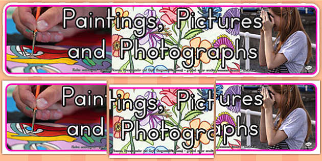 Paintings Pictures Photographs Photo Display Banner (Australia)
