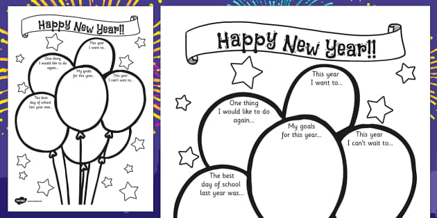 Happy New Year Activity sheet - new year, activity sheet, happy new year