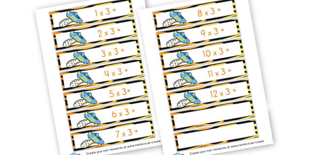 3 x Tables Football - Times Tables Primary Resources, multiply, times, number of, games, Times, Table, Tabe