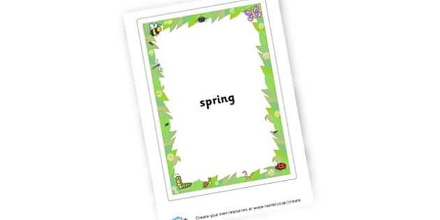 Spring Spidergram - Spring Primary Resources, season, seasons, lambs, new life, growth