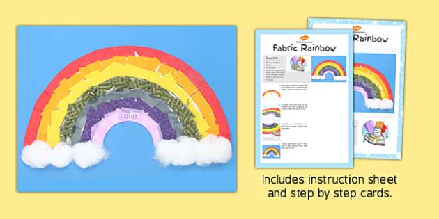 Fabric Rainbow Craft Instructions - craft instructions, craft