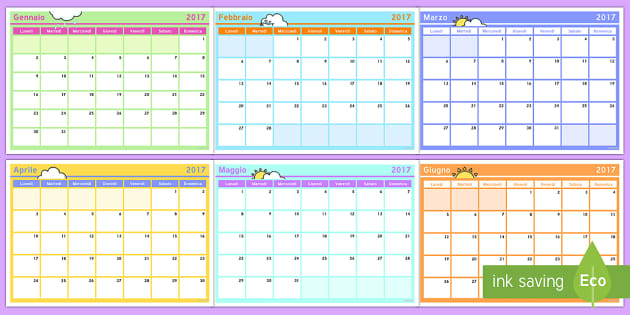 Italian Calendar - italian, calendar, days, weeks, months, date